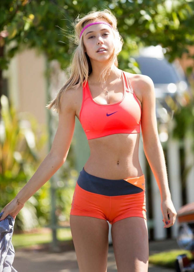 "Alexis Ren - ""Stretch It Out"" Sweat The Style Photoshoot (August 2014) adds"