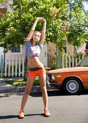 Alexis Ren: Stretch It Out Shoot 2014 -01