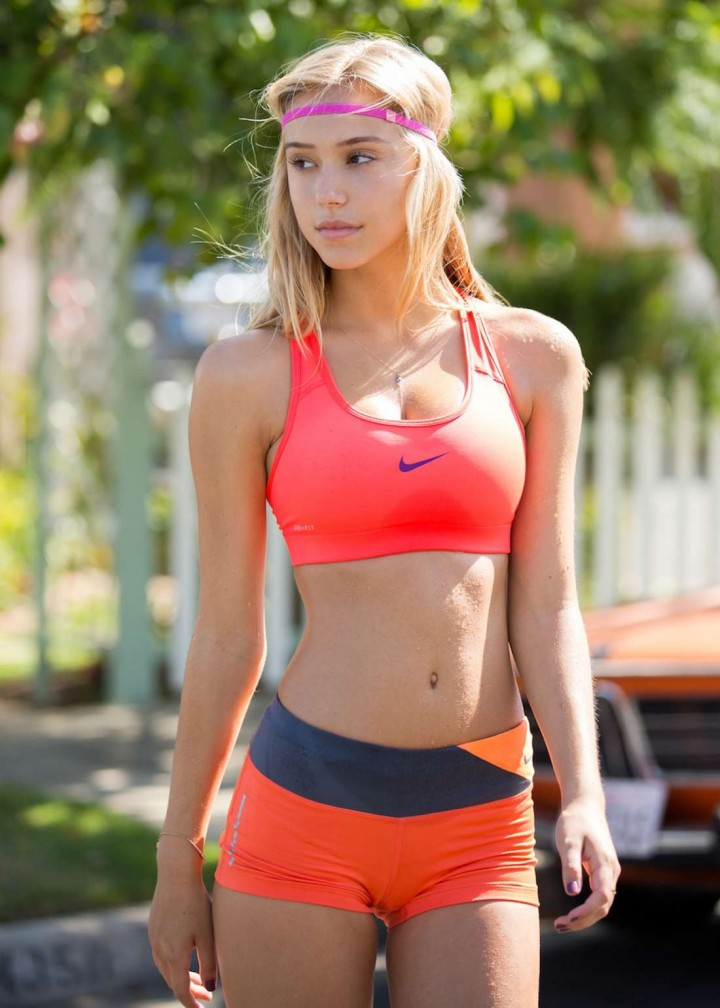 "Alexis Ren - ""Stretch It Out"" Sweat The Style Photoshoot (August 2014)"