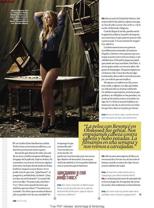 Ali Larter – Esquire Magazine Mexico – Oct 2010 issue