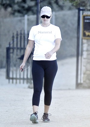 Ali Larter in Tights out for a hike at Runyon Canyon