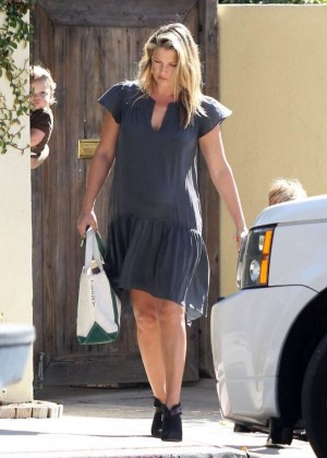 Ali Larter in Mini Dress out in Hollywood