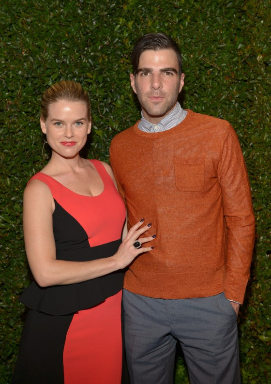 Alice Eve at the Vogue MAC Cosmetics Dinner in LA -02