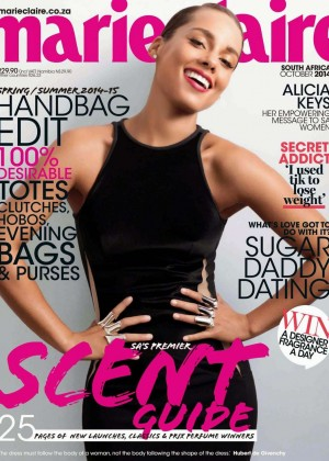 Alicia Keys - Marie Claire South Africa Magazine Cover (October 2014)