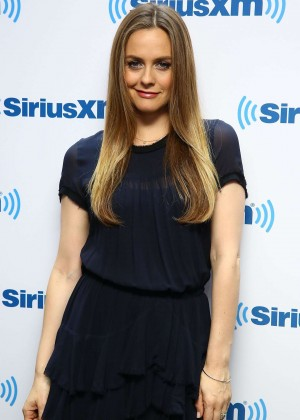 Alicia Silverstone Legs Show at SiriusXM Studios in NYC-03
