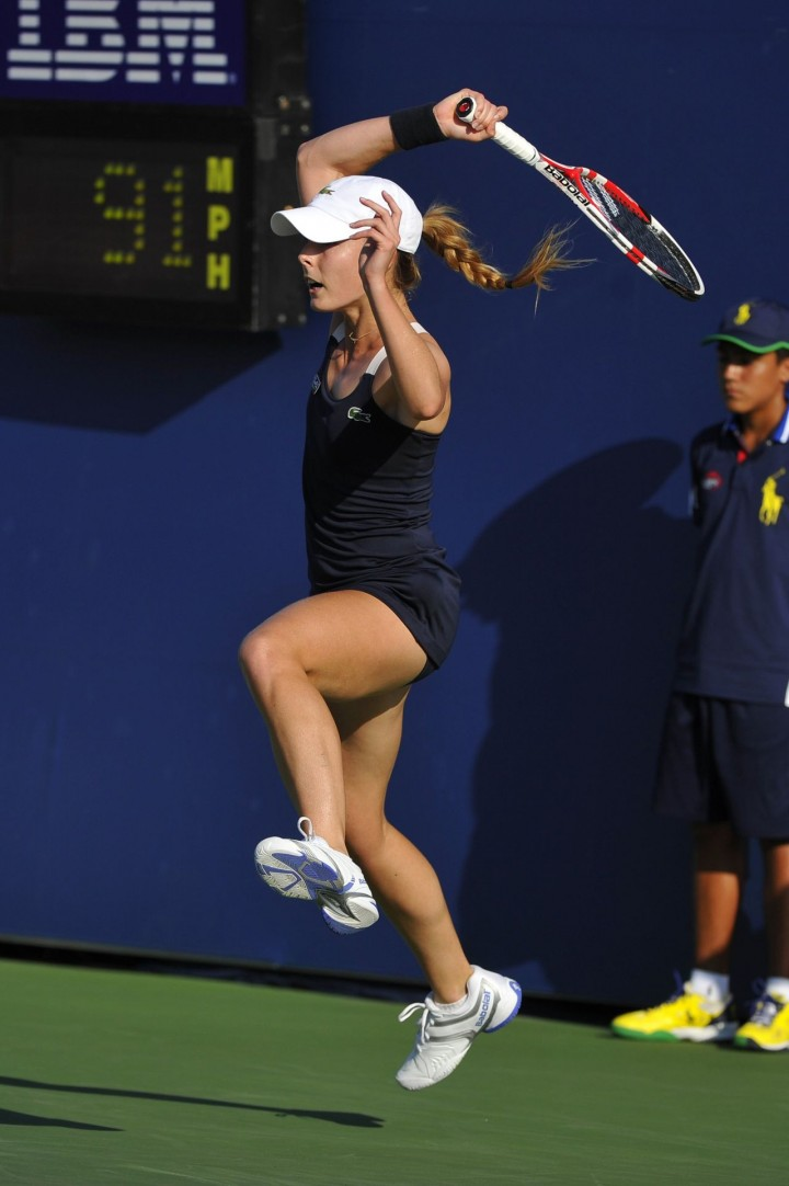 Alize Cornet - US Open 2014 Tennis Tournament in New York