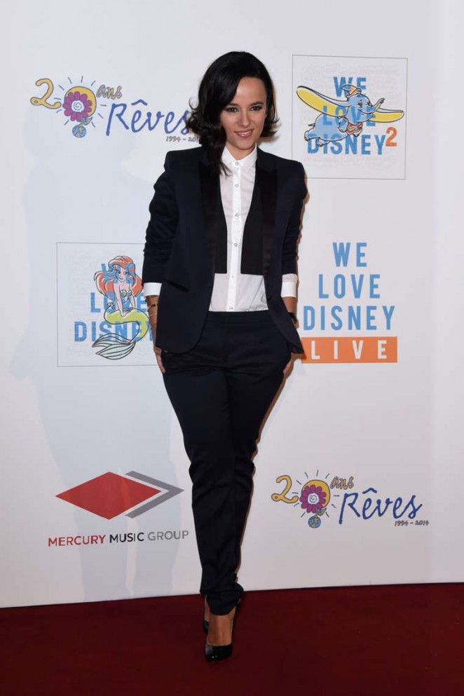 Alizee 2014 : Alizee: We love Disney 2 Concert Red Carpet -03