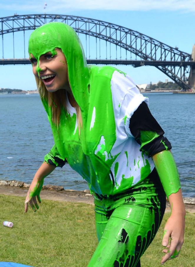 Alli Simpson - Promoting Nickelodeon's Slimefest in Sydney