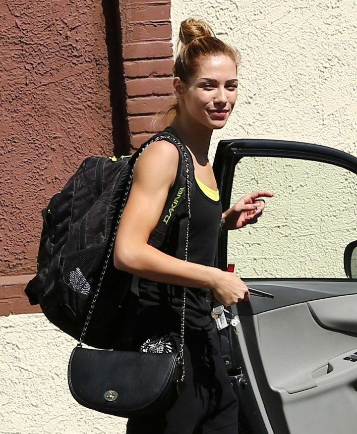 Allison Holker - Leaving the DWTS Rehearsal Studio in Los Angeles