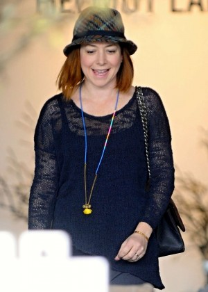 Alyson Hannigan - Christmas shopping in Santa Monica