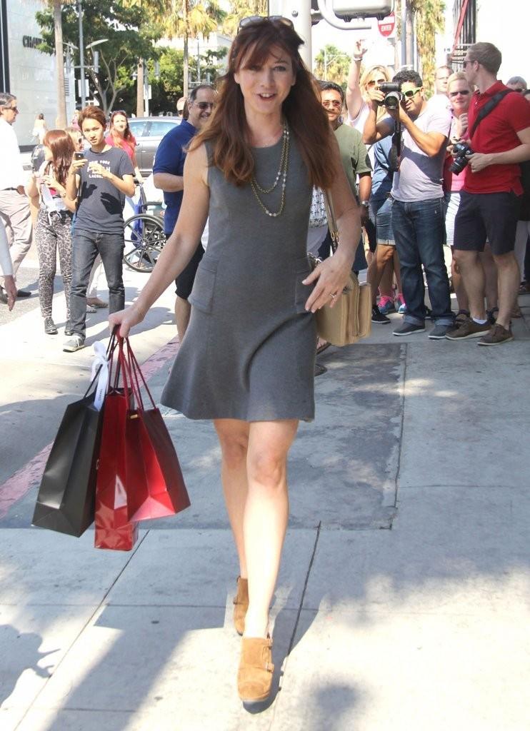 Alyson Hannigan Photos 2013  Leggy In Dress In Beverly