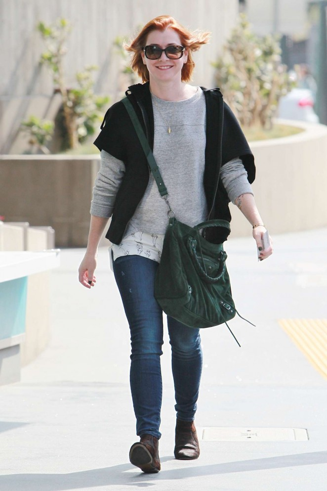 Alyson Hannigan out and about in LA