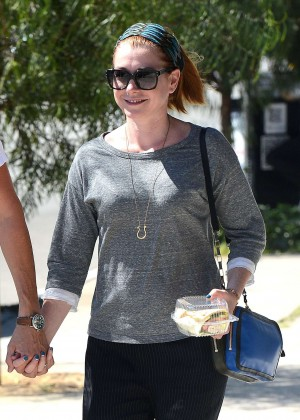 Alyson Hannigan and Alexis Denisof have lunch at Toast in LA