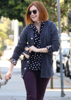 Alyson Hannigan out with her daughter in Brentwood