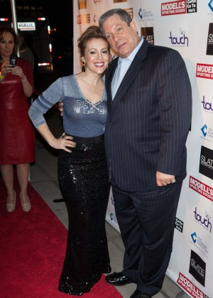 Alyssa Milano: 2014 Super Bowl Kickoff Party -01