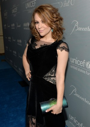 Alyssa Milano: 2014 UNICEF Ball -03