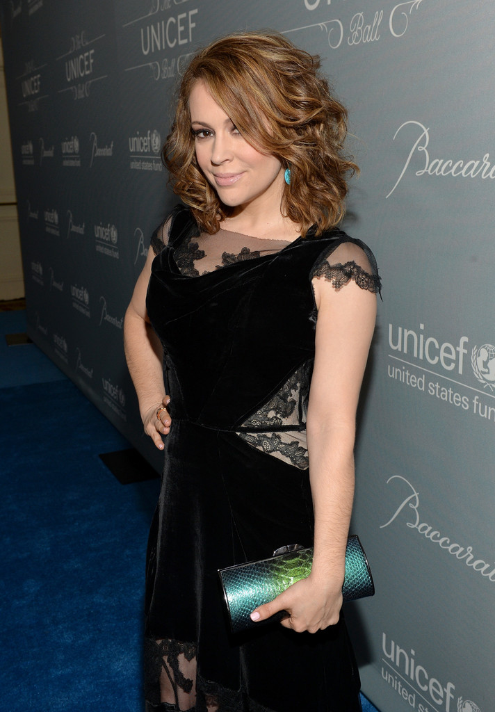 Alyssa Milano – 2014 UNICEF Ball Presented By Baccarat in ...