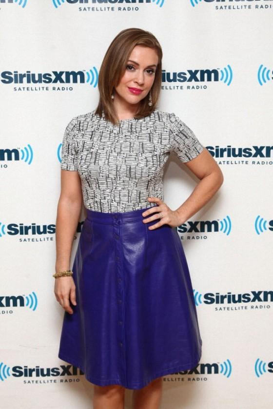 Alyssa Milano at SiriusXM Studios in New York