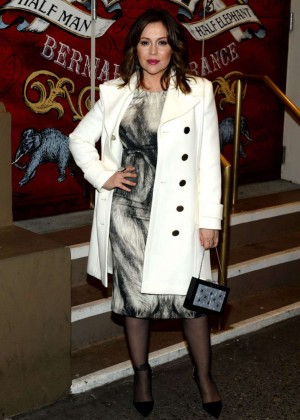 "Alyssa Milano - ""The Elephant Man"" Broadway Opening Night in New York"