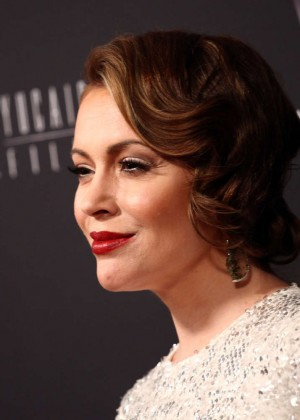 Alyssa Milano: 2014 The Weinstein Company and Netflix GG after party -01