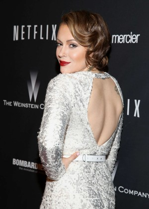 Alyssa Milano: 2014 The Weinstein Company and Netflix GG after party -03