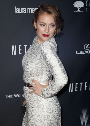 Alyssa Milano: 2014 The Weinstein Company and Netflix GG after party -04