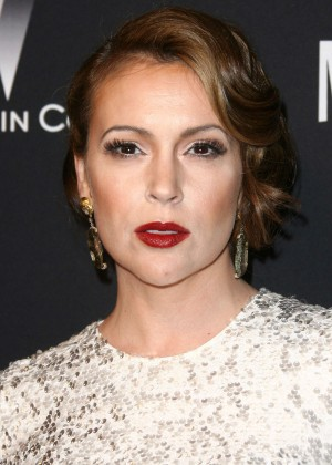 Alyssa Milano: 2014 The Weinstein Company and Netflix GG after party -05