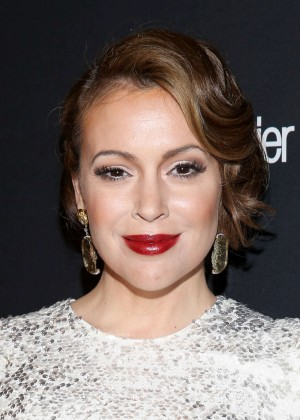 Alyssa Milano: 2014 The Weinstein Company and Netflix GG after party -11