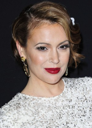 Alyssa Milano: 2014 The Weinstein Company and Netflix GG after party -14