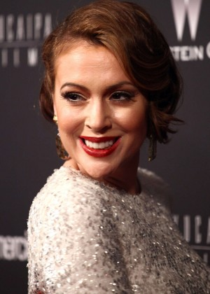 Alyssa Milano: 2014 The Weinstein Company and Netflix GG after party -15