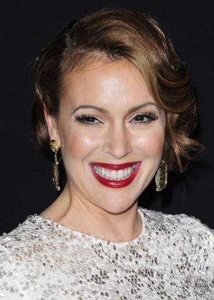 Alyssa Milano: 2014 The Weinstein Company and Netflix GG after party -16
