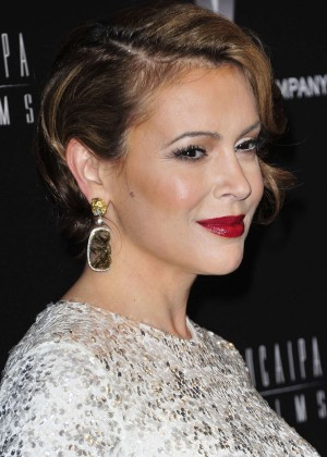 Alyssa Milano: 2014 The Weinstein Company and Netflix GG after party -17