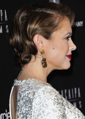 Alyssa Milano: 2014 The Weinstein Company and Netflix GG after party -19
