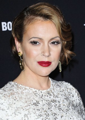Alyssa Milano: 2014 The Weinstein Company and Netflix GG after party -20