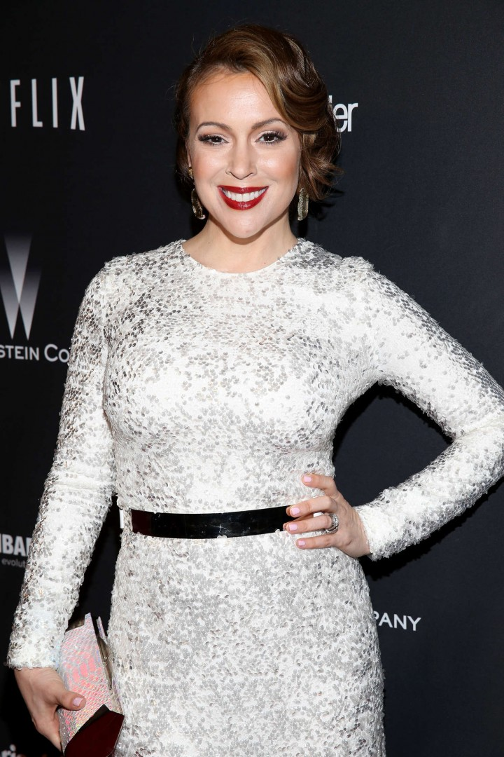 Alyssa Milano: 2014 The Weinstein Company and Netflix GG after party -22