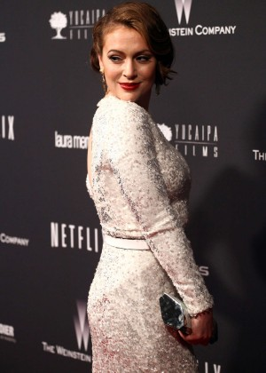 Alyssa Milano: 2014 The Weinstein Company and Netflix GG after party -23