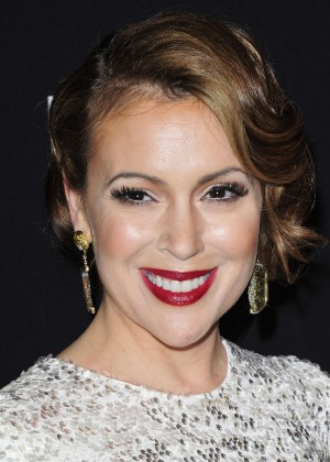 Alyssa Milano: 2014 The Weinstein Company and Netflix GG after party -24