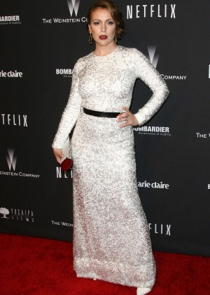 Alyssa Milano: 2014 The Weinstein Company and Netflix GG after party -25