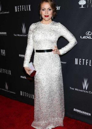 Alyssa Milano: 2014 The Weinstein Company and Netflix GG after party -26