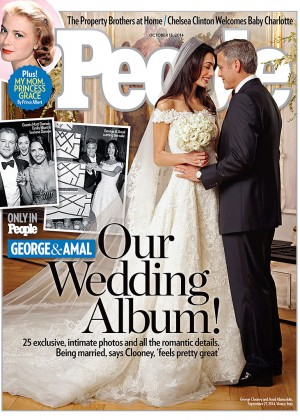 Amal Alamuddin & George Clooney - Wedding Photo