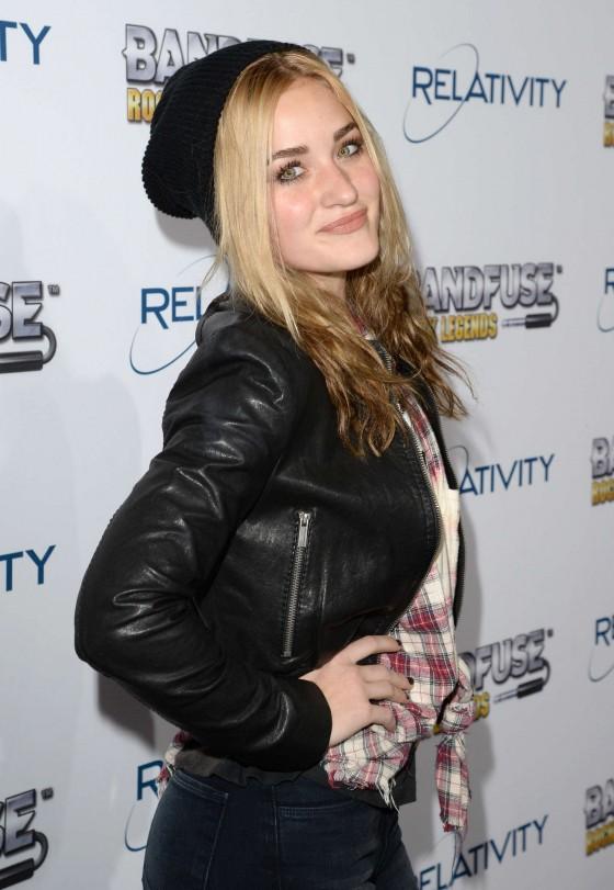 Amanda AJ Michalka: BandFuse Rock Legends video game launch -01