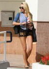Amanda Bynes shows her legs in Woodland Hills