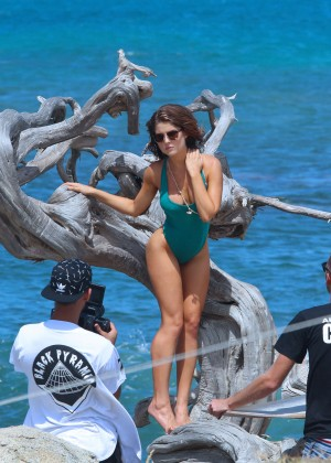 Amanda Cerny in Green Swimsuit -04
