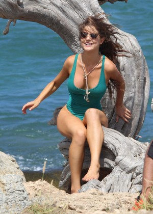 Amanda Cerny in Green Swimsuit -05