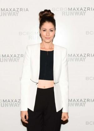 Amanda Crew: BCBGMAXAZRIA NY Fashion Show 2014 -01