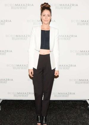 Amanda Crew: BCBGMAXAZRIA NY Fashion Show 2014 -03