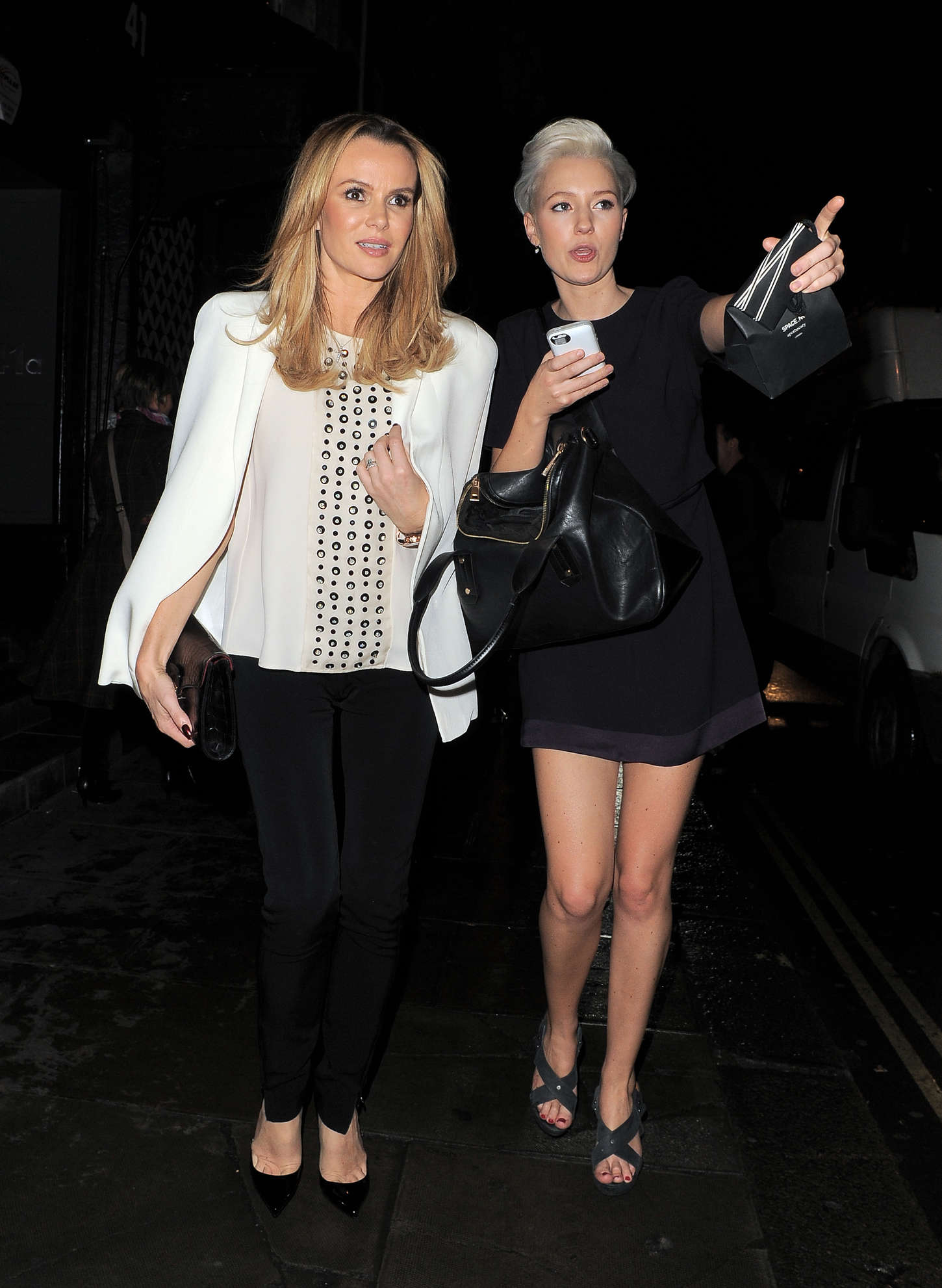 Amanda Holden - Leaving the Groucho Club in London