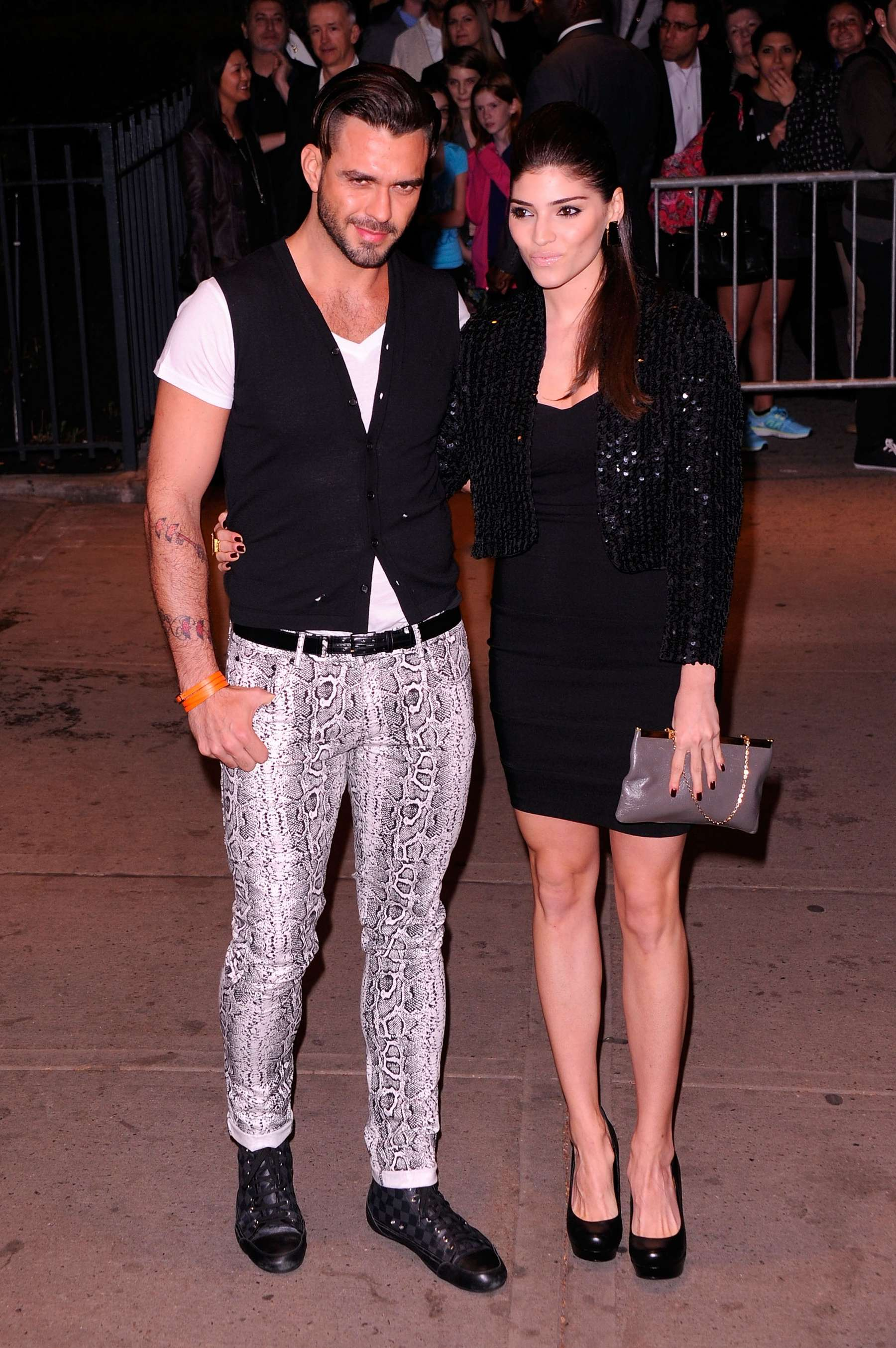 Amanda Setton legs at The Hunger Games in NY-01