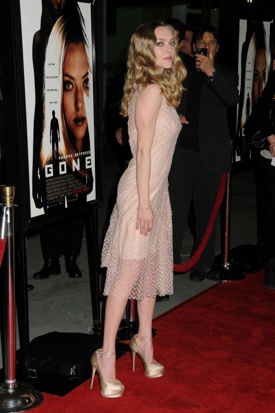 Amanda Seyfried at 'Gone' Los Angeles Premiere