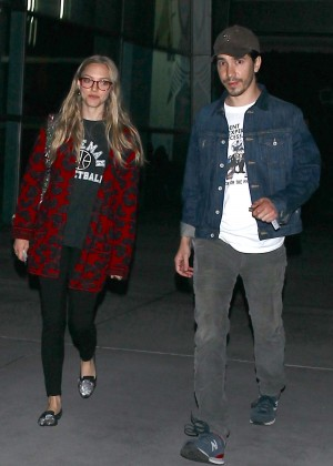 Amanda Seyfried with boyfriend Justin Long out in Hollywood